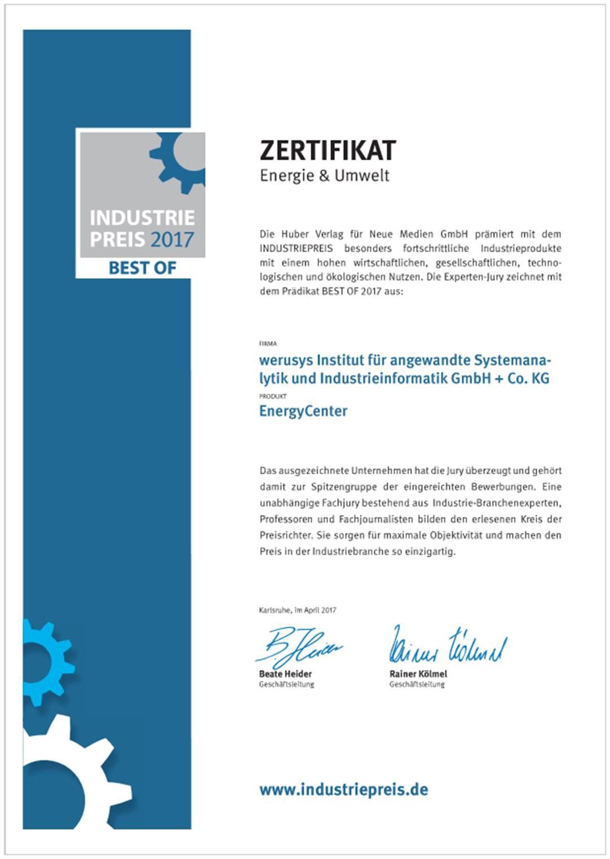 Werusys Industriepreis 2017