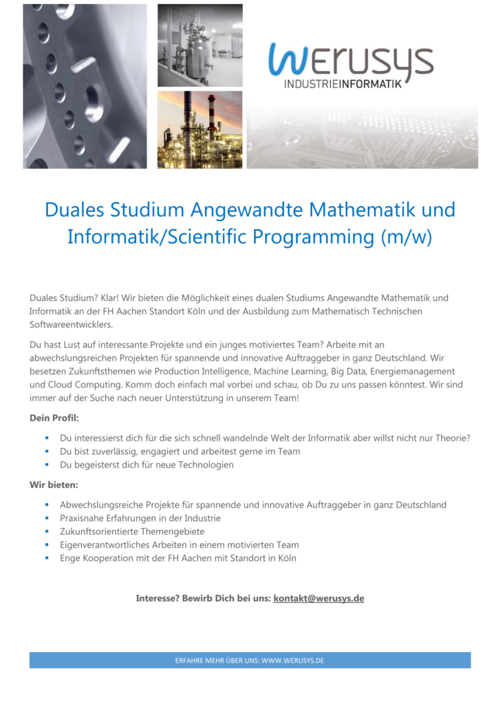 Duales Studium Angewandte Mathematik und Informatik
